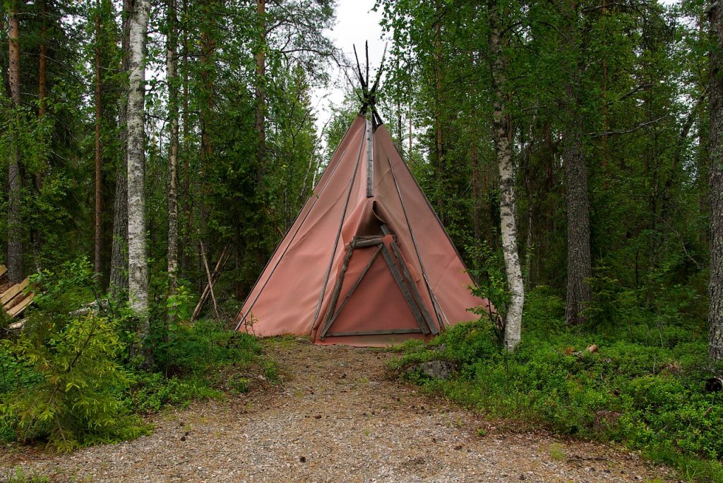finland, forest, tent